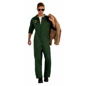 CO-AVIATOR JUMPSUIT-GRN-STD (Green Jumpsuit Costume)