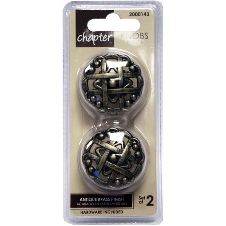 - Chapter Woven Cabinet Knob, Antique Brass, 2 Pieces