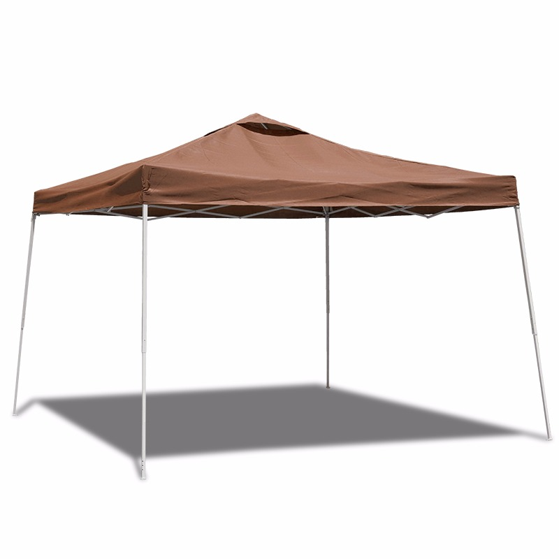 10' X10' Instant Canopy Tent Folding Gazebo with Carry Bag, Brown by