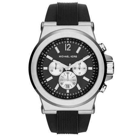 5bbd33deed8cd Michael Kors - MK8336 Men s Dylan Chronograph Black Dial Silicone Strap  Watch - Walmart.com