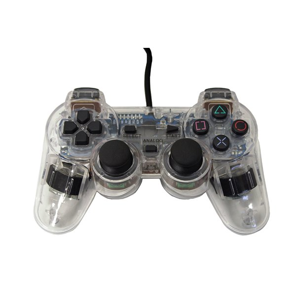 Transparent Clear White Controller For Playstation Ps1 Ps2 By Mars Devices Walmart Com Walmart Com