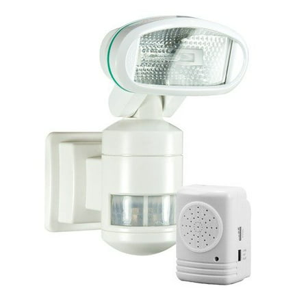 Nightwatcher security motion tracking halogen security floodlight nightwatcher security motion tracking halogen security floodlight with alarm in white aloadofball Gallery