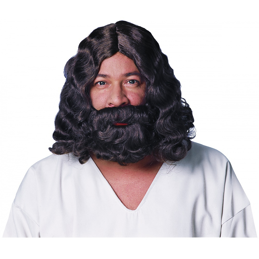 Deluxe Jesus Brown Wig & Beard Adult Costume Accessory