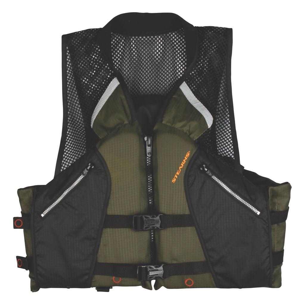 Stearns Comfort Collard Fishing Vest, Green by COLEMAN