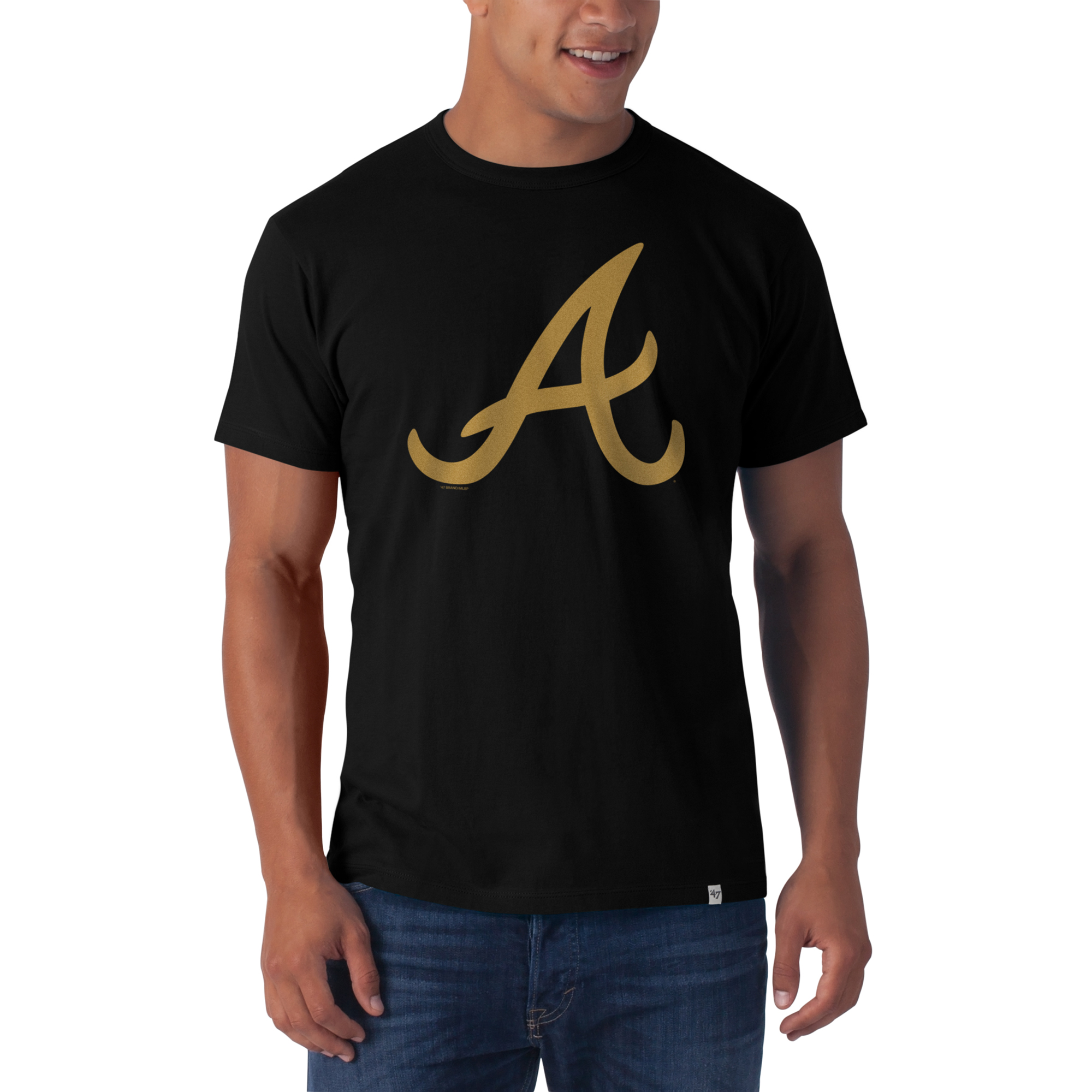 Atlanta Braves '47 Abe T-Shirt - Black