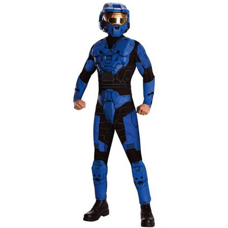 Blue Halo Spartan Adult Halloween - Adult Halo Costume