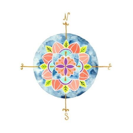 Blue Mandala I Laminated Print Wall Art By Rebekah