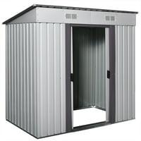 Jaxpety 6' x 4' Outdoor Storage Shed Steel Garden Utility Tool Backyard Building Garage