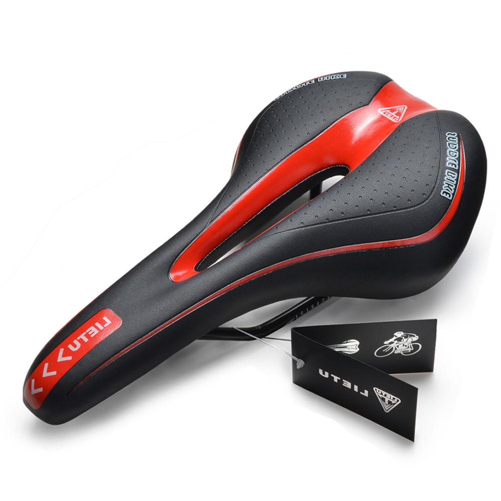 Image Bike Saddle Bicycle Gel Cushion Pad Cycling Seat Shock-Resistant w/ Scale Mark