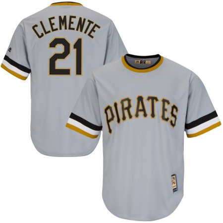 Roberto Clemente Pittsburgh Pirates Majestic Cool Base Cooperstown  Collection Player Jersey - Gray - Walmart.com 873392659
