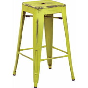 "Work Smart   OSP Designs, Bristow 26"" Antique Metal Bar Stool, 4 Pack by Office Star Products"