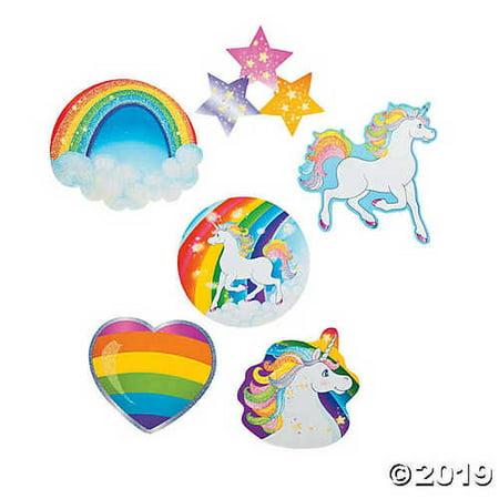 Large Unicorn Party Glitter Cutouts (6 pc)](Unicorn Cutout)