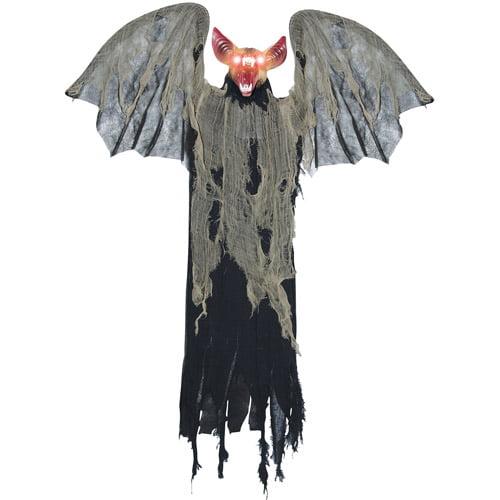 "48"" x 50"" x 8"" Hanging Bat With Wings Halloween Prop"
