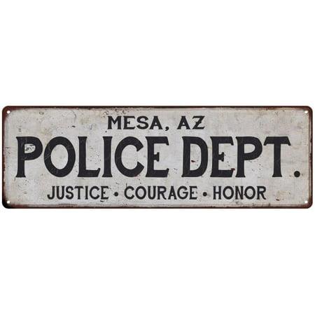 MESA, AZ POLICE DEPT. Home Decor Metal Sign Gift 6x18 106180012029 - Halloween Stores In Mesa Az