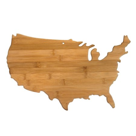Totally Bamboo USA Shaped Bamboo Serving and Cutting Board