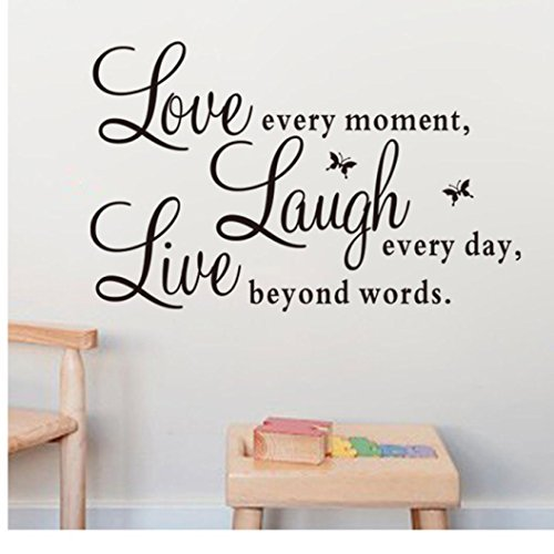 Ussore Wall Sticker Live Love Butterfly Wall Stickers Home Decor Wall Art For Kids Home Living Room House Bedroom Bathroom Kitchen Office Live Every Moment Laugh Every Day Love Beyond Words Walmart Com