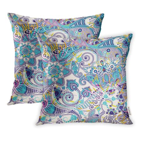EREHome Pattern Paisley Flowers Floral Modern Pillowcase Cushion Cases 18x18 inch Set of 2 - image 1 de 1
