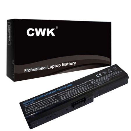 CWK® High Performance Toshiba PA3817U-1BRS Notebook Battery. PRIMARY BATTERY PACK 6CELL 5200mAh (4400mAh compatible) 58Wh Lithium Ion (Li-Ion) 24 Months