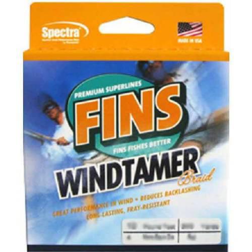 "Fins SpectraWindtamer Slate Green 1500 yds 30 lb Test 0.0115"" Diameter Fishing Line by Generic"