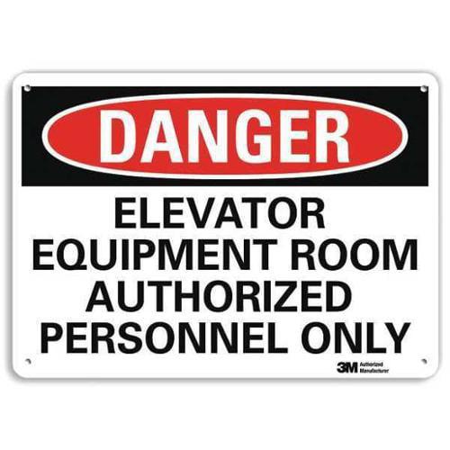 LYLE U3-1416-RA_14X10 Danger Sign, 4 Hole Mount, 14inWx10inH