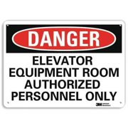 LYLE U3-1416-RA_14X10 Danger Sign, 4 Hole Mount, 14inWx10inH