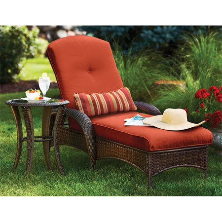 Better homes and gardens lake island chaise lounge for Better homes and gardens hillcrest outdoor chaise lounge