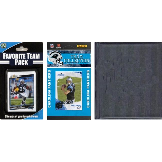 C&I Collectables NFL Carolina Panthers Licensed 2010 Score Team Set and Favorite Player Trading Card Pack Plus Storage Album