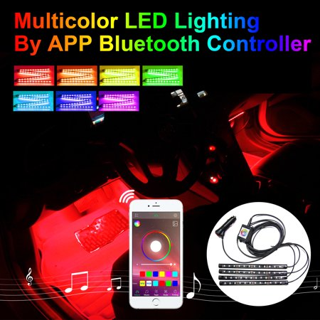 Addmotor car atmosphere rgb led light strips kit for car interior addmotor car atmosphere rgb led light strips kit for car interior light phone app music control mozeypictures Choice Image