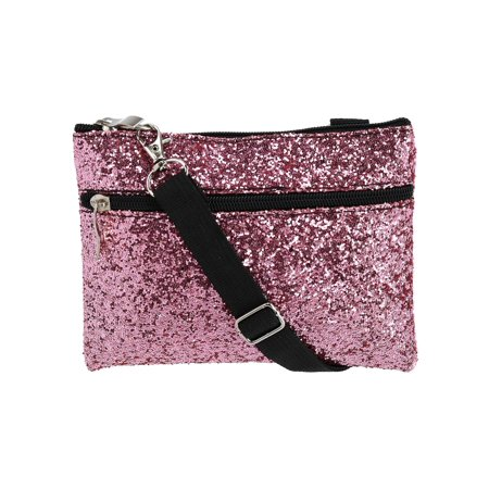 - Fashion Glitter Waist Pack Convertible Cross Body Bag