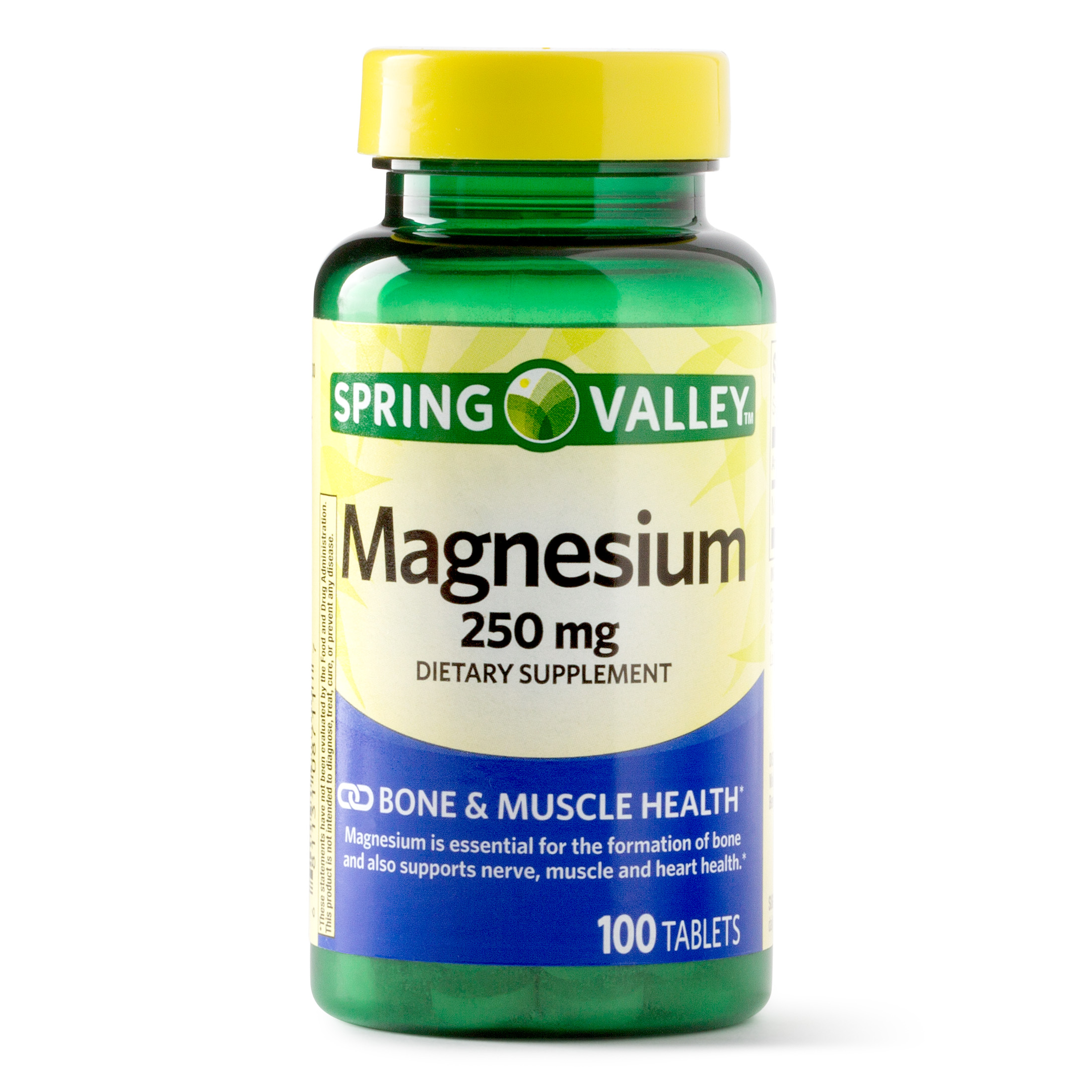 Spring Valley Magnesium Tablets, 250 mg, 100 Ct