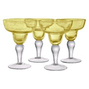 Artland Inc. Iris Citrine Margarita Glasses Set of 4 by Artland