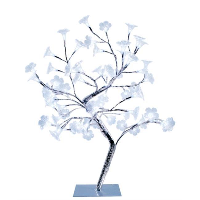 Large Morning Glory LED Lighted Decorative Tree - White