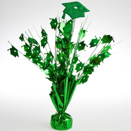 Green Graduation Cap Centerpieces  pkg/6 (Graduation Centerpiece Ideas Homemade)