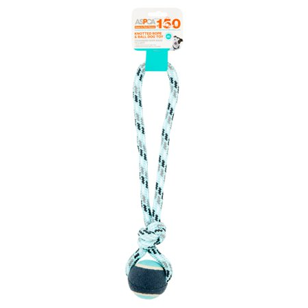 ASPCA Blue Knotted Rope & Ball Dog Toy