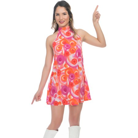 Adult's Womens 70s California Dreamin Disco Gal Dress Costume