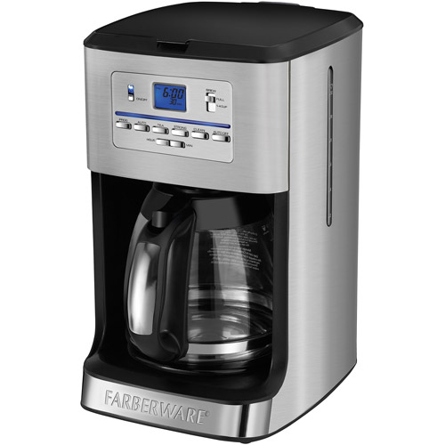 Farberware® 12-Cup Programmable Coffee and Tea Maker, Stainless Steel Exterior