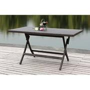 Safavieh Dilettie Outdoor Patio Rectangular Folding Table - Grey