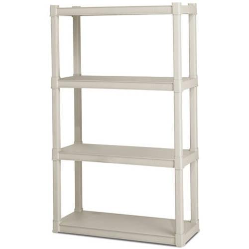 Sterilite 4 Shelf Unit- Light Platinum
