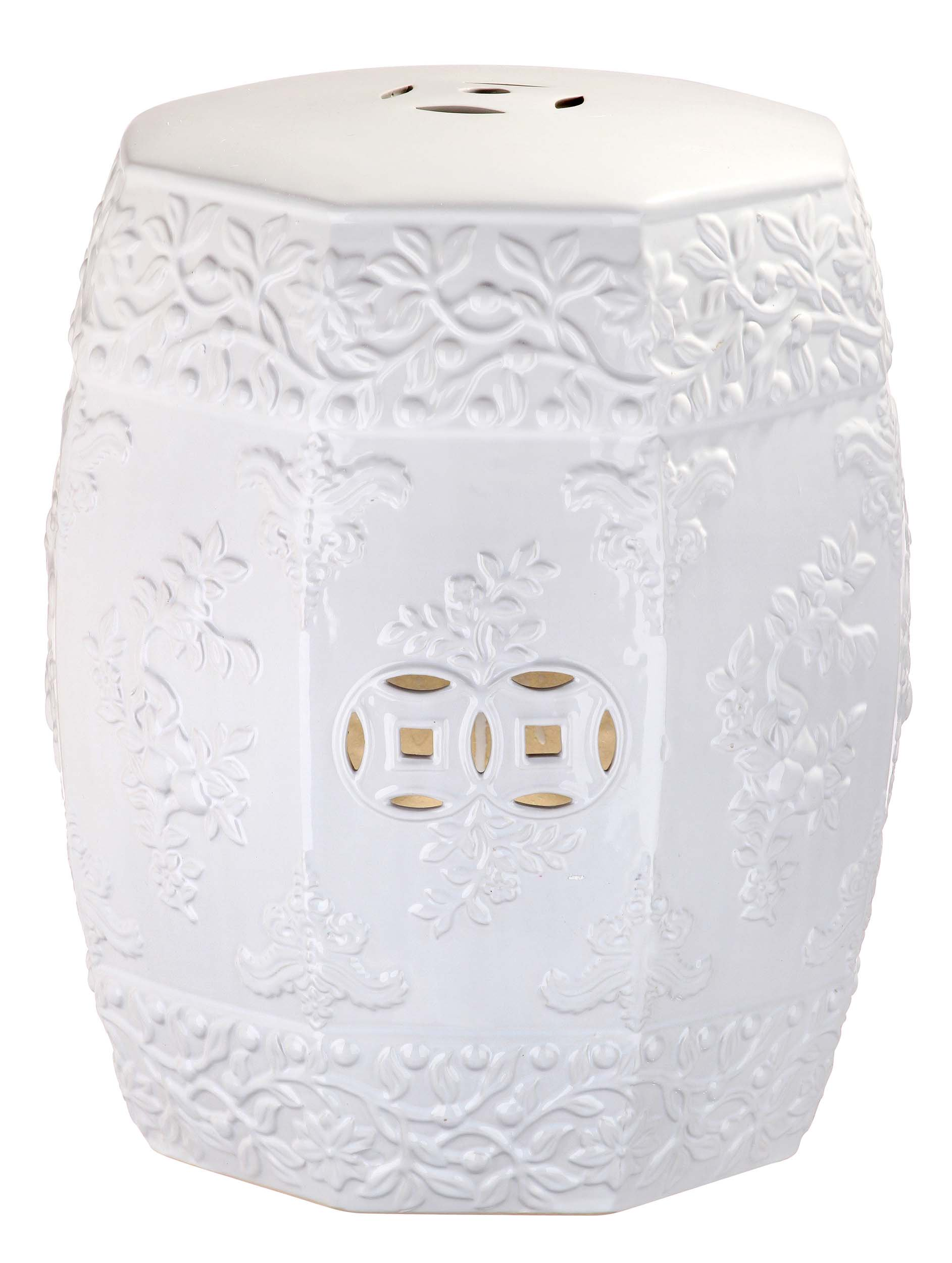 Safavieh Zen Ren Indoor/Outdoor Garden Stool, White