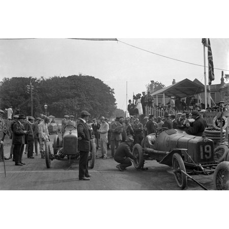 Minerva and Straker-Squire cars at the RAC Isle of Man TT race, 10 June 1914 Print Wall Art By Bill