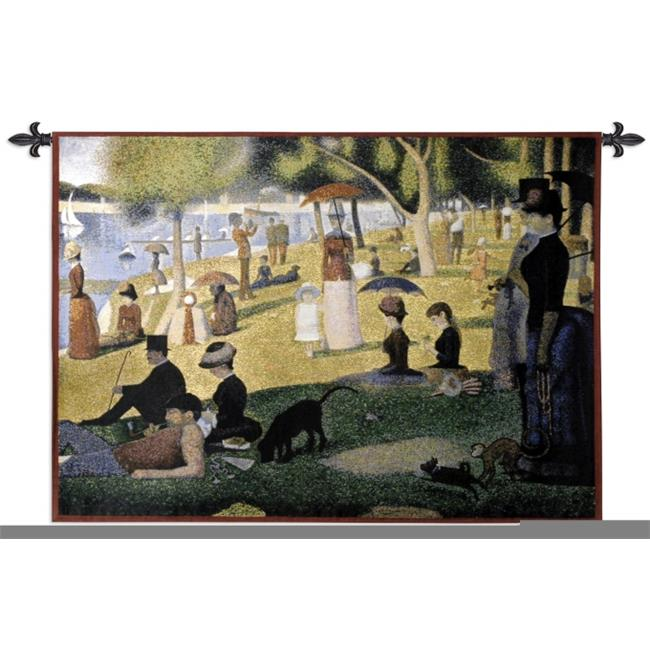 FineArtTapestries 1541-WH A Sunday Afternoon on the Island of La Grande Jatte Wall Tapestry by Supplier Generic