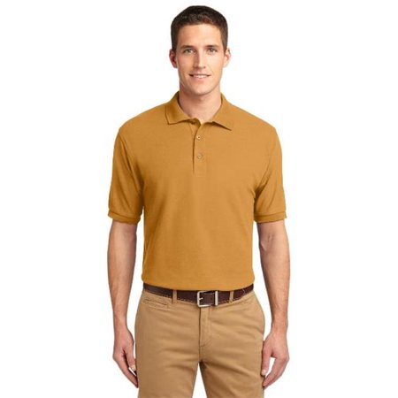 Port Authority Tlk500 Mens Silk Touch Polo T Shirt  44  Gold   2Xl Tall