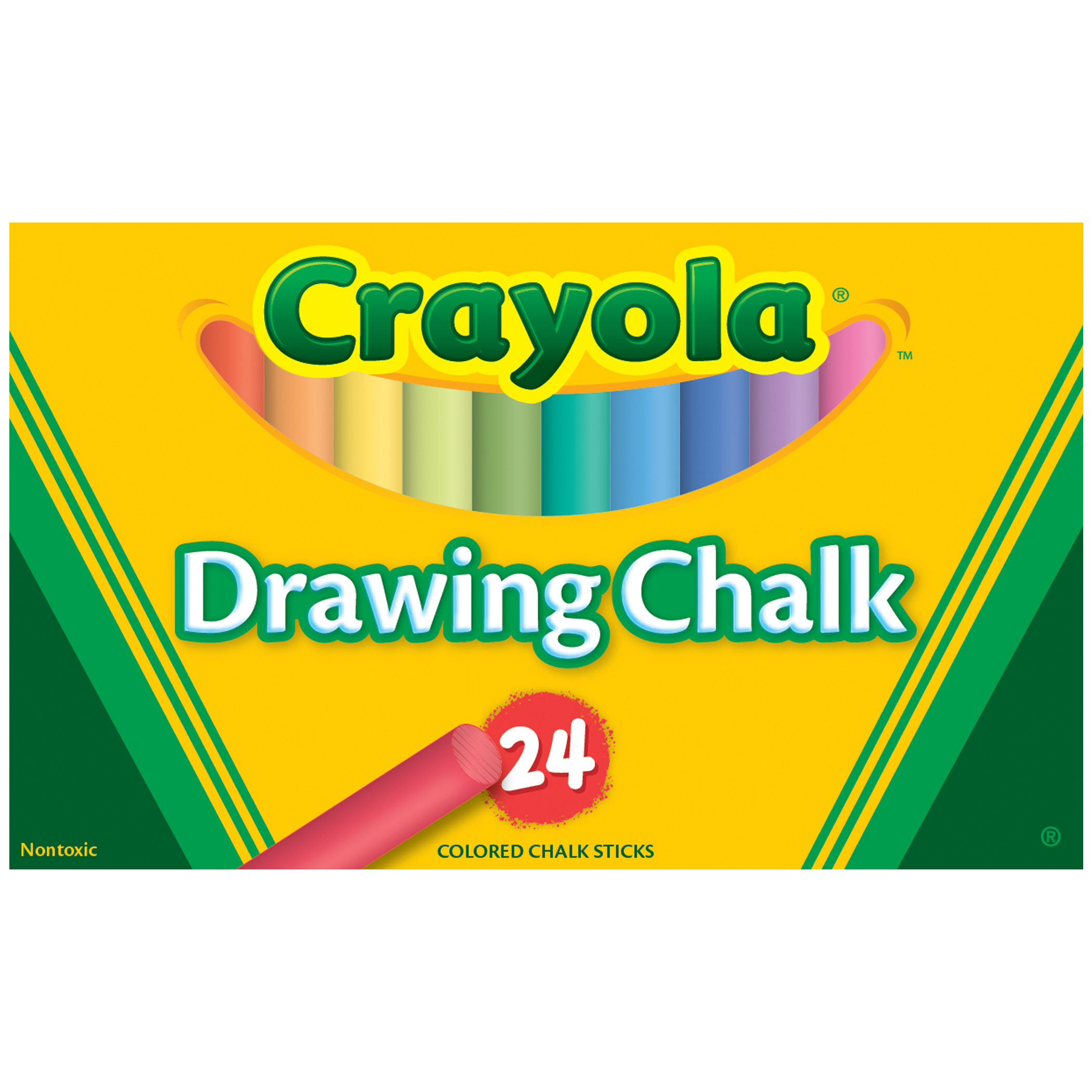 Crayola® Colored Drawing Chalk, 24 colors per box, Set of 6 boxes