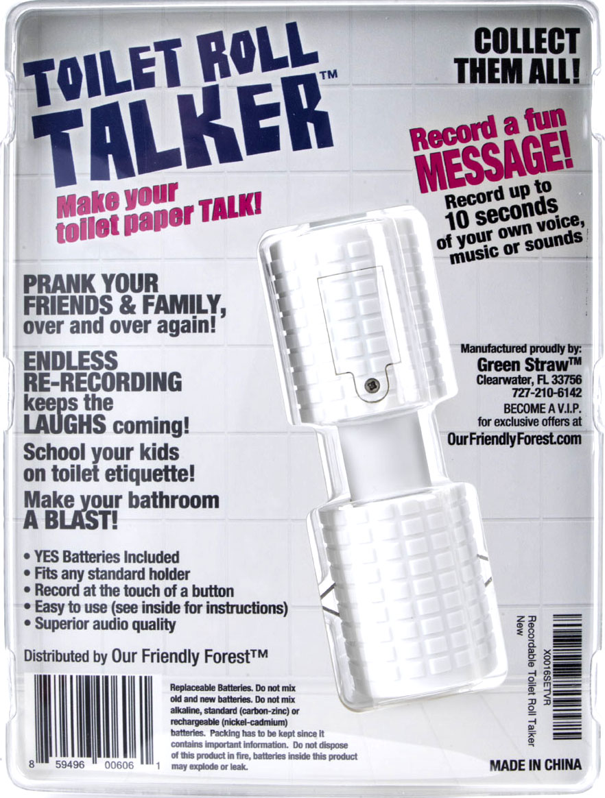 Recordable Toilet Roll Talker - Bathroom Prank - Makes Your Regular ...