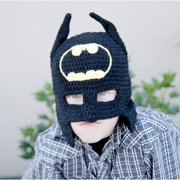 Handmade Superhero Knit Hat and Cowl L 1-3 year