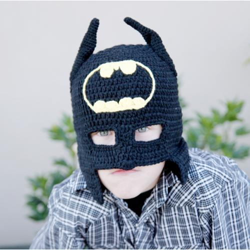 Handmade Superhero Knit Hat and Cowl L 1-3 year