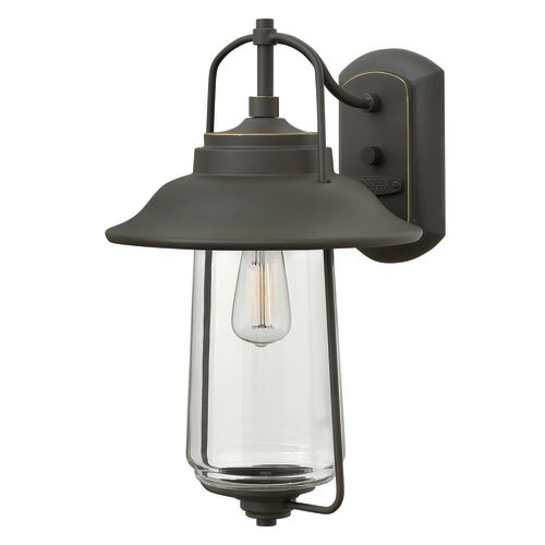 """Hinkley Lighting 2864 16"""" Height 1-Light Lantern Outdoor Wall Sconce from the Belden Place Collection"""