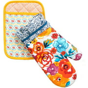 The Pioneer Woman Flea Market Pot Holder/Oven Mitt Set