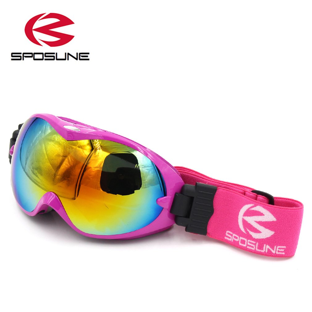 SPOSUNE Men Women Outdoor Double Layers Anti-Fog Windproof Skiing Goggles by