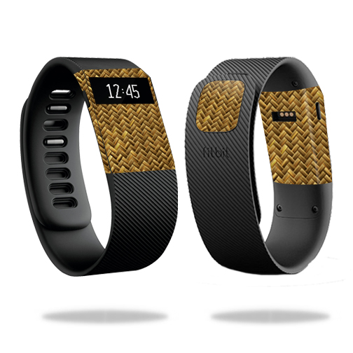 Skin Decal Wrap for Fitbit Charge cover skins sticker watch Basket Weave